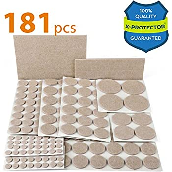 X PROTECTOR Premium ULTRA LARGE Pack Furniture Pads 181 Piece! Felt Pads  Furniture Feet