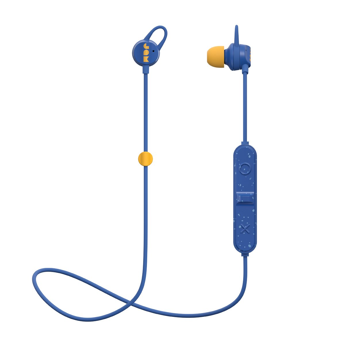 Sweat Resistant Wireless Bluetooth Earbuds 6 Hour Playtime, Hands-Free Calling, Magnetic Cord Management, Lightweight Design JAM Live Loose Sport Headphones Blue