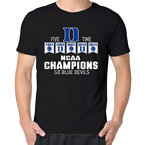 Duke Blue Devils 2015 National Champs [Black Man T-Shirts