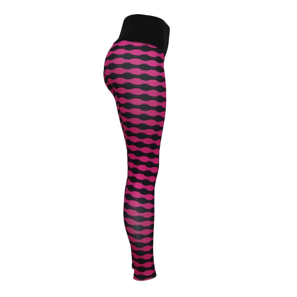Rcool Leggings Donna Sport Vita Alta Griglia Elastico Eleganti Yoga Striscia Jogging Fitness Comfort Pantaloni Tuta Donna Sportivi 5 Colore S//M//L//XL