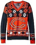 NFL Women's V-Neck Sweater, Chicago Bears, Large