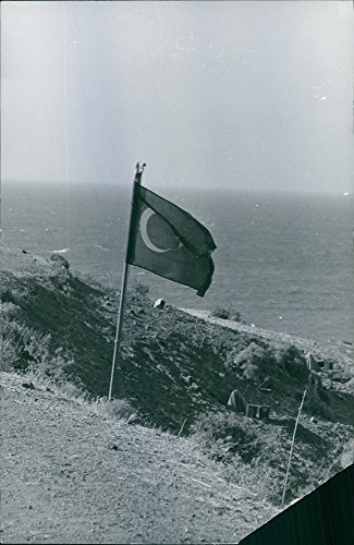 Vintage photo of Photograph of a flag in grassland.