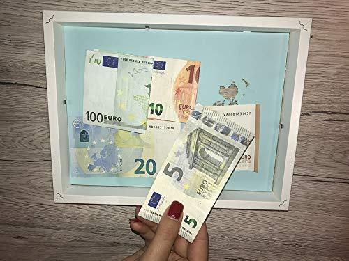 Geldgeschenk Weltkarte Im Bilderrahmen Hochzeitsgeschenk