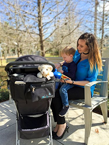 Stroller Organizer Bag with Detachable Wristlet and Extra-Large Insulated Cup Holders, Parent Storage for Smart Mom Accessories- Phone, Keys, Cards, Diapers, Perfect Baby Shower Gift by Merry Milestones (Image #2)
