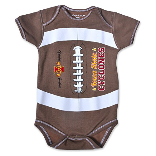 NCAA Iowa State Cyclones Kids MVP Football Bodysuit, 6 Months, Brown