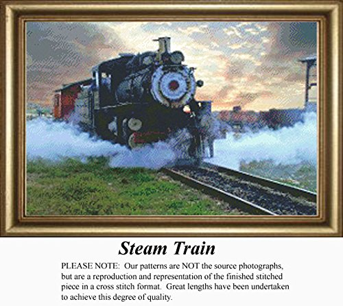 (Steam Train, Vintage Counted Cross Stitch Pattern (Pattern Only, You Provide the Floss and Fabric))