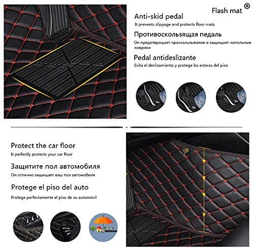 Black/&Beige All Weather Floor Mats Custom Fit for Mercedes-Benz CLA-Class 2014-2019 Heavy Duty Floor Protection Non Slip Leather Front+Rear 4 Pieces