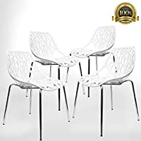 Birch Sapling Plastic Accent Dining Chairs