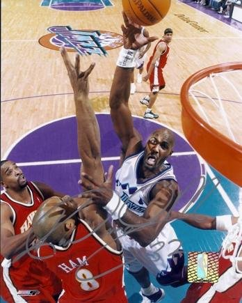 f1d0d6285 Image Unavailable. Image not available for. Color  Autographed Karl Malone  Photograph - 8x10 - PSA DNA ...