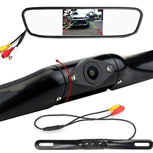 Dragon-Hub Car Rear View Backup Camera and Mirror Monitor Kit,Dragon-Hub 4.3