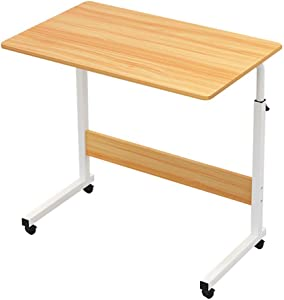 ZXYY OverBed Table Adjustable Tray Table Medical Bedside Tables Hospital Food Tray Wheeled Desk for Sofa Bed Hospital Reading Eating Cart Tray