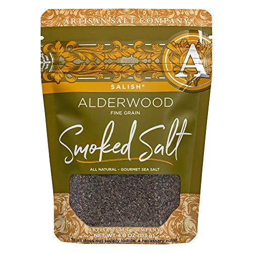 SaltWorks Sea Salt, Salish Alderwood Smoked, 4 Ounce