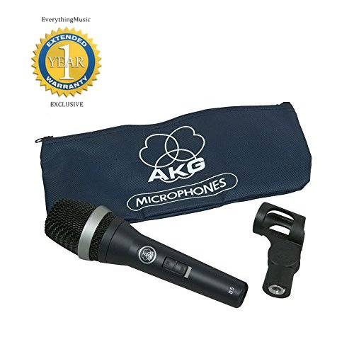 AKG D5 S Supercardioid Dynamic Vocal Microphone with On/Off Switch and 1 Year Free Extended ()