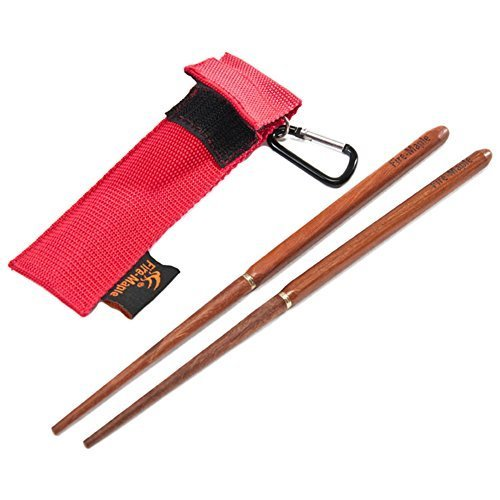 Travel Chopsticks (Fire-maple Camping Backpacking Red Sandalwood Foldable Portable Chopsticks)