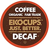 EKOCUPS Artisan Organic Decaf Coffee, Light Roast in, Raspberry Dried Fruit,Recyclable Single Serve Cups for Keurig K-cup Brewers,40 count