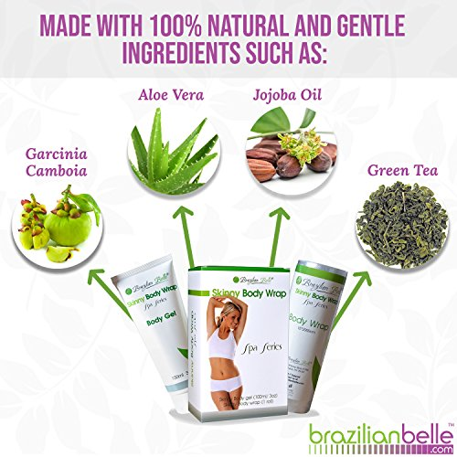 Brazilian Detox Body Wraps | Complete Weight Loss & Toning System | New & Improved with Garcinia Cambogia, Green Tea, Infused with Vitamins (8 Applications) 3