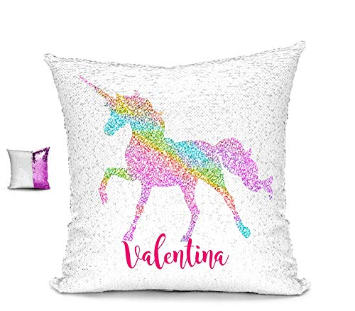 Personalized Unicorn Reversible Sequin Pillow Case