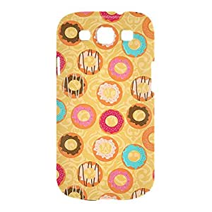 Donuts and Coffee Samsung S3 3D wrap around Case - Design 1