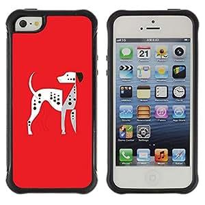LASTONE PHONE CASE / Suave Silicona Caso Carcasa de Caucho Funda para Apple Iphone 5 / 5S / The Dalmatians