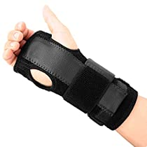 MCTi Removable Wrist Splint Compression Strap Support Hand Brace Night Wear for Carpal Tunnel Sprains Arthritis Right and Left 1 Piece