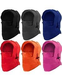6 Pieces Kids Balaclava Hat Winter Windproof Double Warmer Fleece Ski Face Mask