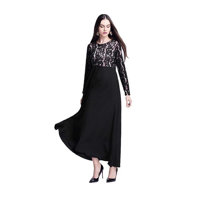 85e694a600 Amazon.com: 2019 Newest Women's Elegant Lace Party Maxi Dress Kaftan ...