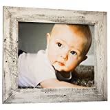 16×20 Barnwood Picture Frame | Wall Mount | Handmade Rustic Reclaimed Wood – Whitewash For Sale