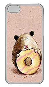 Customized iphone 5C PC Transparent Case - Eating Cover