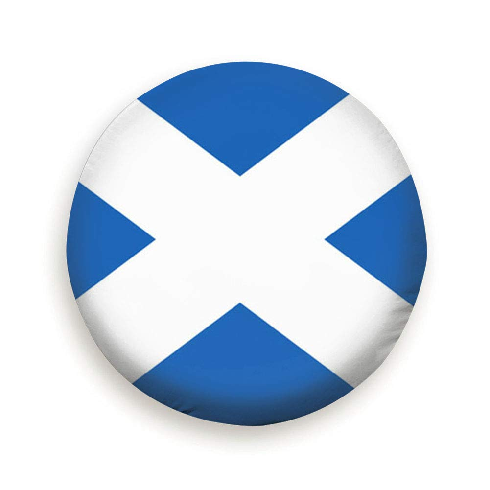 Tire Cover Flag Scotland Saint Andrews Cross Buildings Landmarks Polyester Universal Spare Wheel Tire Cover Wheel Covers Jeep Trailer Rv SUV Truck Camper Travel Trailer Accessories 14,15,16,17 Inch