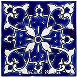 mediterranean azur ceramic tile 4x4 - Decorative Ceramic Tile