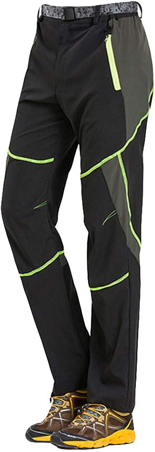 VPASS Pantalones para Hombre,Pantalones de Trekking Softshell Pantalones Impermeables Resistente Pantalones de Escalada Deportes al Aire Libre ...