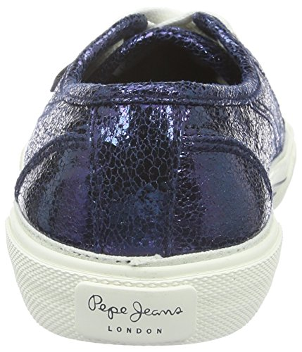 Pepe Jeans London Damen Aberlady Crackle Sneaker Blau (NAVY 595)