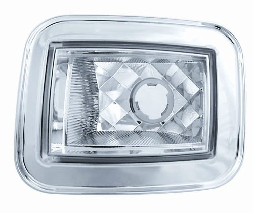 (IPCW CWC-348C Crystal Clear Diamond-Cut Front Park Signal Lamp - Pair)