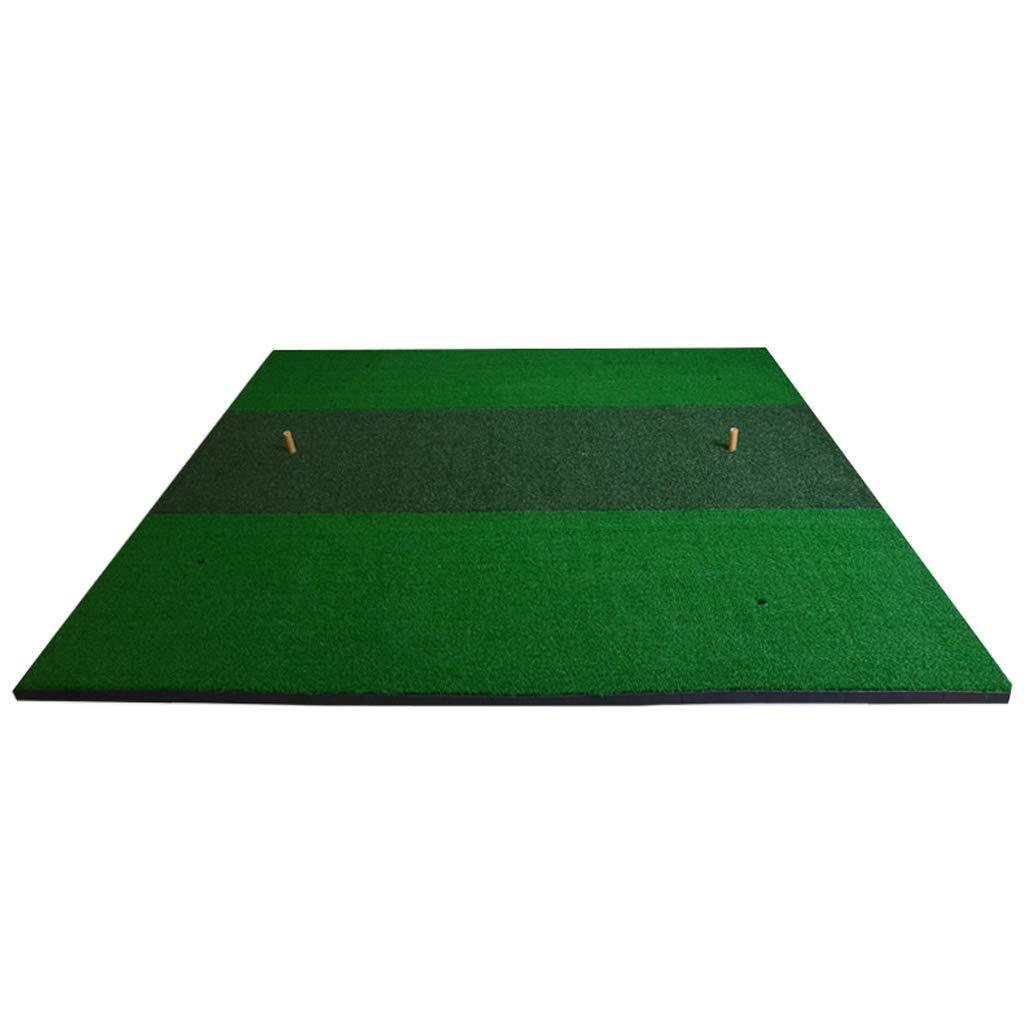 Hong Tai Yang ゴルフマット2色グラススクエアエクササイザ、ポータブルシミュレーショングラススイングパッド *-*   B07PBGCJWD