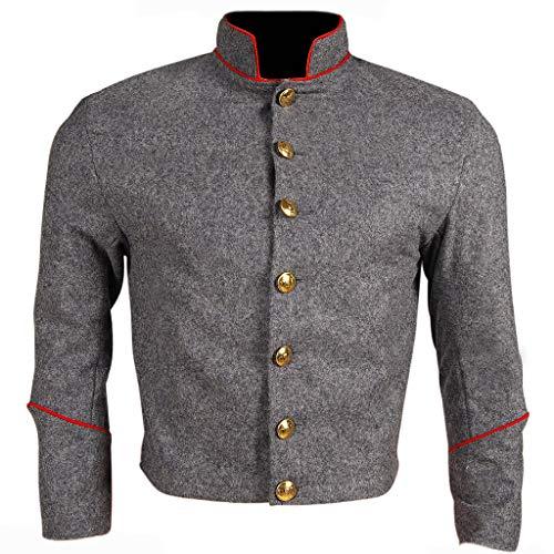 10Code US Civil War Confederate Enlisted Artillery Shell Jacket (42) Grey (Grey Military Uniforms)