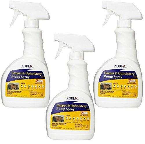 (3 Pack) Zodiac Flea Control Carpet and Upholstery Pump Spray – 24 Ounce each