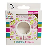 Closet Doodles Paisley C2 Baby Closet Dividers Girl Set of 6 Fits 1.25inch Ro...