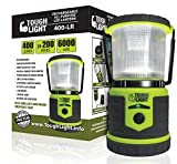 LED Camping Lantern - Tough Light LED Rechargeable Lantern - 200 Hours of Light From a Single Charge, Longest Lasting on Amazon! Camping and Emergency Light with Phone Charger - 2 Year Warranty (Yellow)