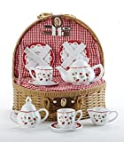 Porcelain Tea Set/Basket, Cherry