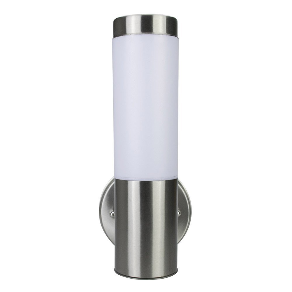 Light Blue™ LED Wall Sconce Lighting, Cylindrical with Opal Glass Shades, Antique Brushed Nickel, 4000K Cool White, 500 Lumens, Energy Star Dimmable
