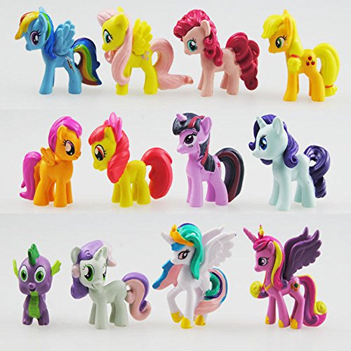 My Little Pony Set 12 pcs Toys | PVC Mini Figure Collection Playset | Kids Decor Cupcake Topper + Pony Stickers by My Little Pony (Image #6)