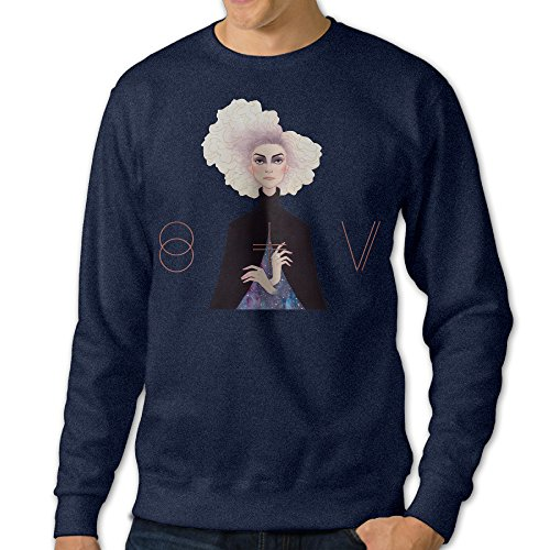 [NUBIA Men's St Vincent Long Sleeve Hoodies Navy L] (Wicked Musical Costumes Sale)