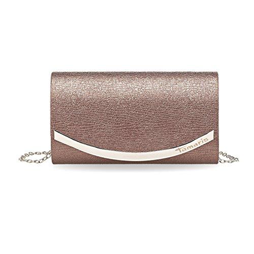 Tamaris Damen Zelda Clutch Bag, 11x5x19 cm bordeaux/metallic