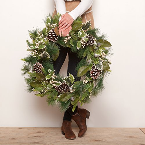 Outdoor Lighted Christmas Wreath Cordless - 2