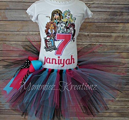 Monster High Birthday Tutu,Monster High Birthday, Monster Girls Shirt -