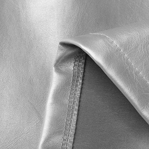 Moulante Costume Argent Chic Sixcup Mini Holographique Flare Fte Robe De Courte PU Mini Femme Unique Taille Jupe Cuir gIFwqaFT