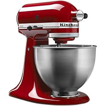 Amazon Com Kitchenaid 4 5 Qt Classic Red Stand Mixer