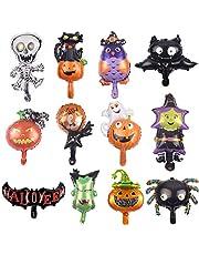 Halloween-decoraties, pompoenen, heksen, vleermuizen, vlaggen, slaapkamer, binnen en buiten, open haarden, tuinen, Halloween-partydecoraties (Halloween ballonnen).