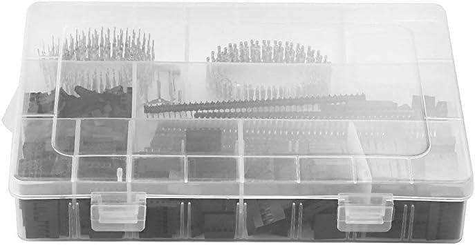1450Pcs Conector Kit 2.54mm PCB Pin Encabezados Caja Embalaje para Arduino Dupont - Negro y Plata (1450Pcs): Amazon.es: Hogar