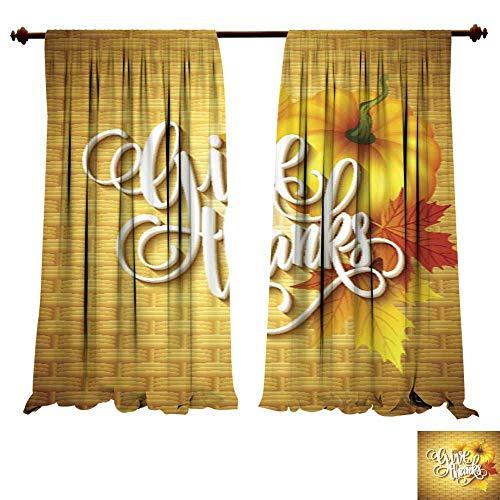 DragonBuildingMaterials Window Curtains for Bedroom Thanksgi
